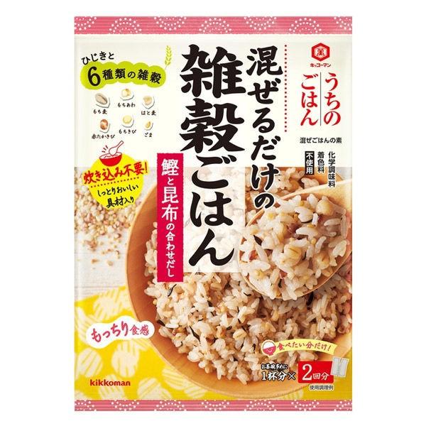 [10個]キッコーマン食品 うちの混ぜごはん 雑穀鰹と昆布86g 賞味期限2021.10.08