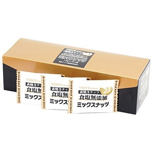 [送料無料][4箱]東洋ナッツ 素焼きミックスナッツ(13g×25袋) 賞味期限2021.02.24以降