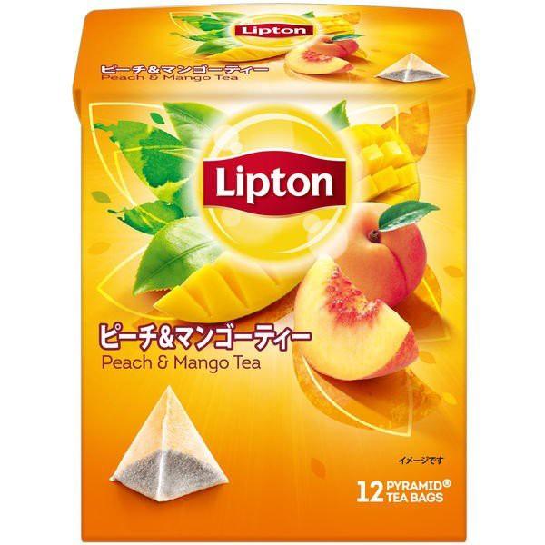 [6個]リプトン ピーチ マンゴー ティーバッグ 12袋 賞味期限2020.08.31