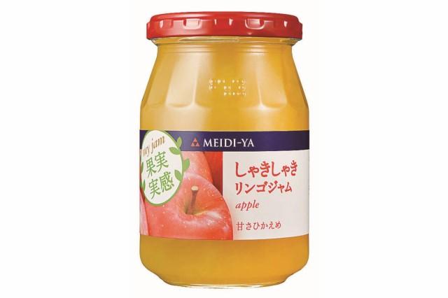 [送料無料][12個]明治屋 果実実感 しゃきしゃきリンゴジャム 340g 賞味期限2021.08.01以降