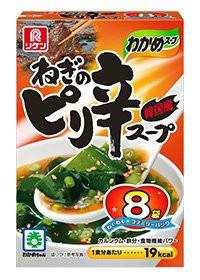 [送料無料][6個]リケン わかめスープ ねぎのピリ辛スープ ファミリーパック 8袋 賞味期限2020.06.17