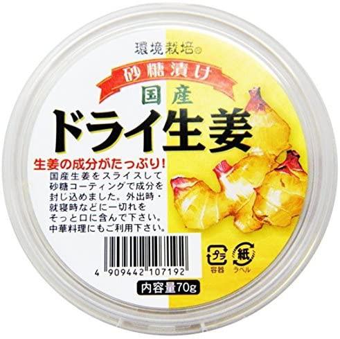 [6個]信州自然王国 国産ドライ生姜70g 賞味期限2021.03.31