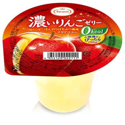 [6個]たらみ 濃いゼロカロリー 濃いりんごゼリー0kcal 賞味期限2020.04.14