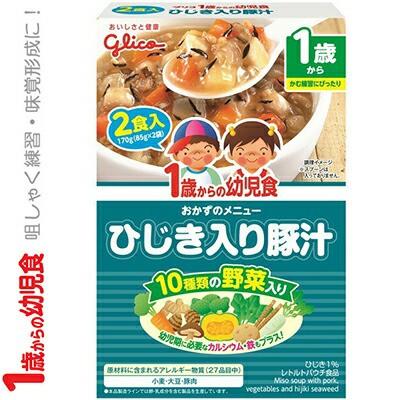 1歳からの幼児食 ひじき入り豚汁 85g×2 【 アイクレオ 1歳からの幼児食 】 [ ベビーフード 幼児食 離乳食 おいしい 栄養 簡単 おすすめ