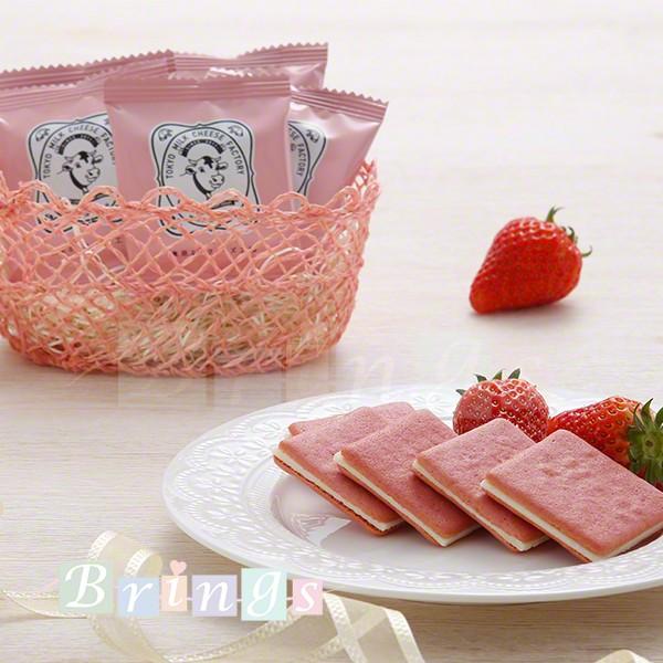 東京ミルクチーズ工場 季節限定 ストロベリー&ミルクティークッキー 10枚入 専用おみやげ袋(ショッパー)付き 冷蔵(クール)便発送
