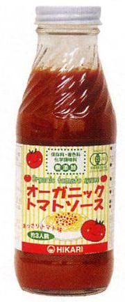 ヒカリ オーガニックトマトソース あっさり味 365g
