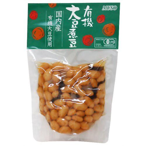ムソー 有機大豆煮豆 145g
