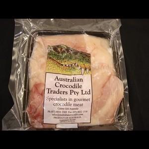 ワニ肉(ボンレスミート) 業務用(約0.7-0.9kg)【豪州産】冷凍ブロック