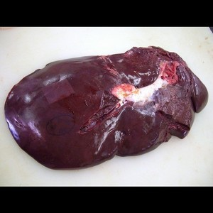 業務用 国産牛レバー(肝臓)(西日本産) ブロック(1Kg) 加熱用
