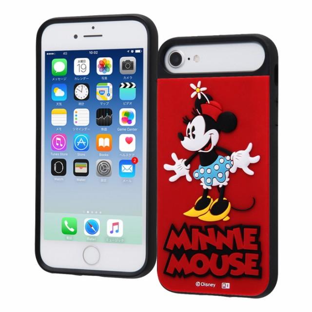 811f3611c2 iphone8 ケース ディズニー iphone7ケース iPhone6s /6 キャラクター 耐衝撃ケース キャトル シリコン【 ミニー