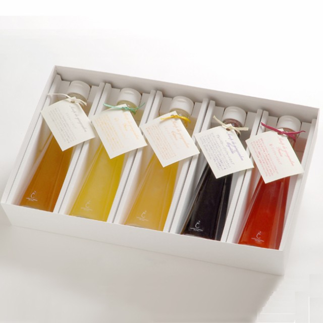 銀座のジンジャー定番5本セット(プレーン、柚子、レモン、ブルーベリー、苺)1箱[計1 000ml] <ジンジャーシロップ>