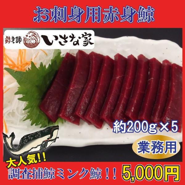 お刺身用冷凍赤身鯨【業務用】