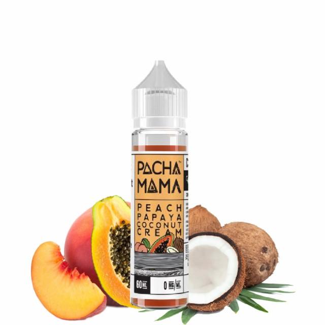 送料無料 Charlies Chalk Dust Peach Papaya Coconut Cream (ピーチ・パパイヤ・ココナッツクリーム) 60ml リキッド ニコチンゼロ タール