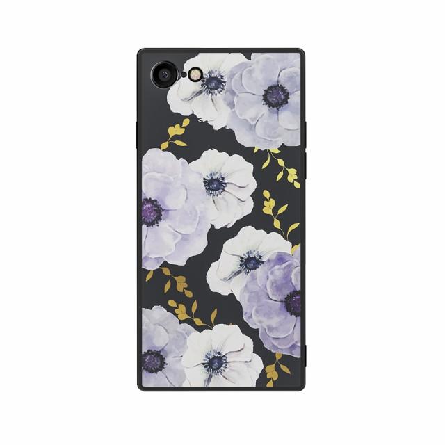 ケース カバー HABITU SQUBE VIOLA iPhoneSE(第2世代) iPhone8 iPhone7 ケース 花柄 おしゃれ 大人女子