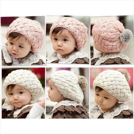 手編み風ニット帽 帽子 ニット キッズ ベビー 子供用 ニット帽 ボンボン 秋 冬 耳あて 児童 キャップ 防寒 KIDS帽子