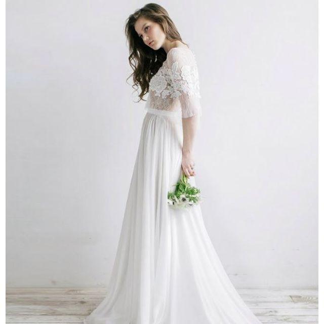 4f643209c7a91 レースのフィッシュテール ウェディングドレス 白 二次会 花嫁 カラードレス 大きいサイズ ウェディング ドレス 送料無料