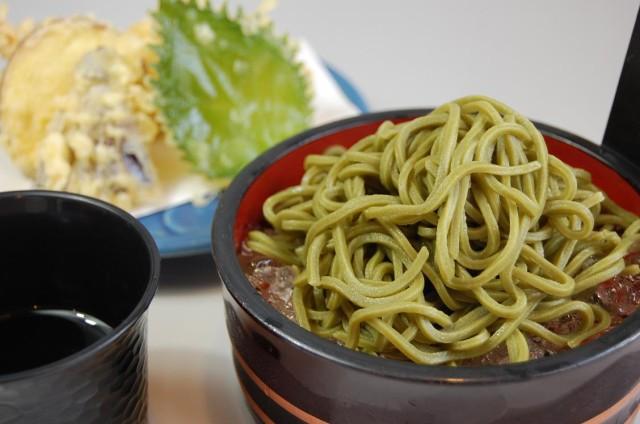 「越の万葉」茶そば(つゆ無し 10食パック)
