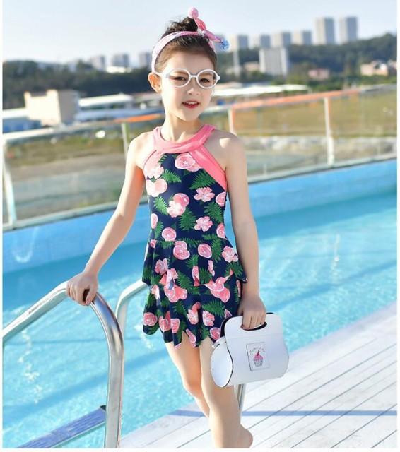 4d2620f916b02 子供服 こども服 子ども服 ファッション キッズ 水着 女の子 2点セット 花柄 超