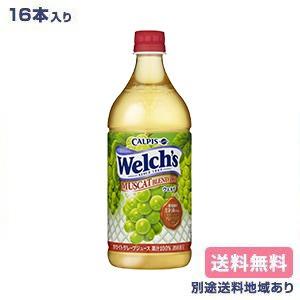 【カルピス】Welch's(ウェルチ)マスカットブレンド100 PET 800g x 8本 x 2ケース(16本) 【送料無料】【別途送料地域あり】【RCP】