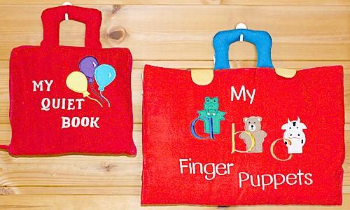布絵本 MY QUIET BOOK とMy abc Finger puppets プレイ ラーンギフトセット 送料無料
