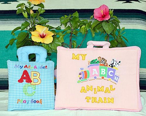布絵本 My Alphabet ABC play book MY ABC ANIMAL TRAIN ピンク ファンタイム・プレイ ラーンギフトセット 英語教育 幼児教育 送料無料