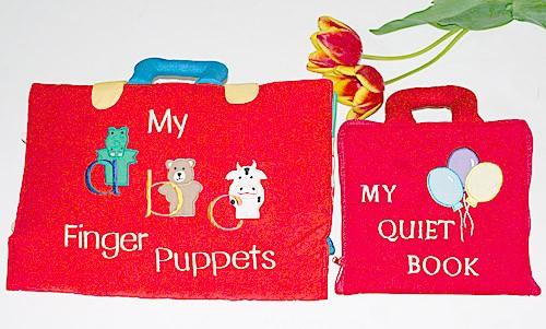 布絵本 MY QUIET BOOK バルーン 指人形abc My abc Finger puppets プレイ ラーンギフトセット英語教育 幼児教育