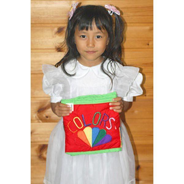 布絵本 知育絵本 知能開発レッスンブック COLORES SHAPES カラーズシェイプス 色とかたちブック 刺しゅう版 幼児教育