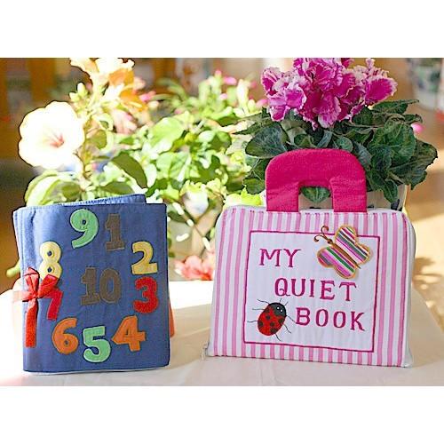 布絵本 MY QUIET BOOKピンクストライプ Counting book英語刺しゅう版 プレイ ラーンギフトセット 幼児教育