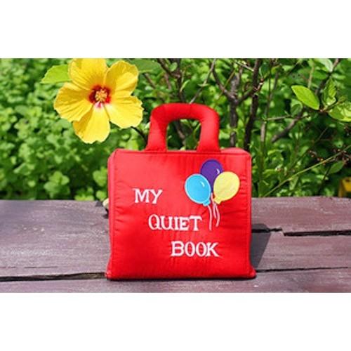 布絵本 知育絵本 知能開発レッスンブック MY QUIET BOOKマイクワイエットブック バルーン英語刺しゅう版 英語教育 幼児教育