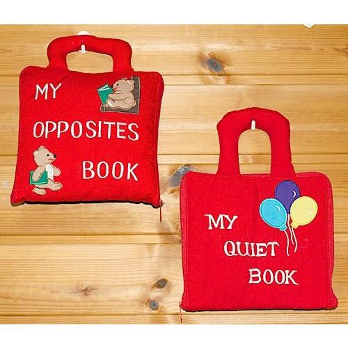 布絵本 MY QUIET BOOK バルーン MY OPPOSITES BOOK刺しゅう英語版 プレイ ラーンギフトセット幼児教育 英語教育