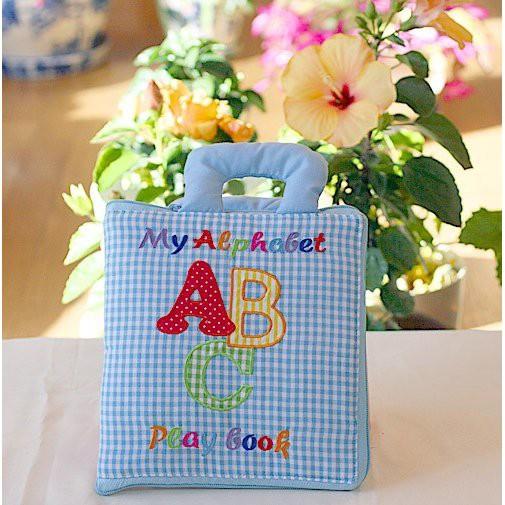 布絵本 知育絵本 My Alphabet ABC play book 英語刺しゅう版 英語教育 幼児教育