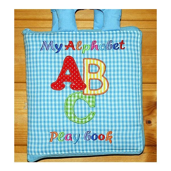 布絵本 知育絵本 英語 My Alphabet ABC play book 英語刺しゅう版 英語教育
