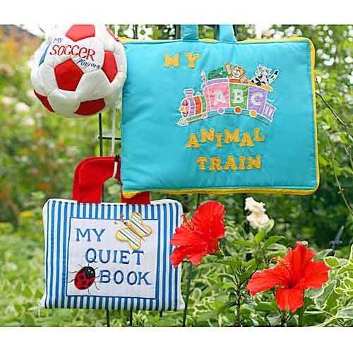 布絵本MY QUIET BOOKブルーストライプ MY ABC ANIMAL TRAIN おまけ付き ファンタイムプレイ ラーンギフトセット 幼児教育