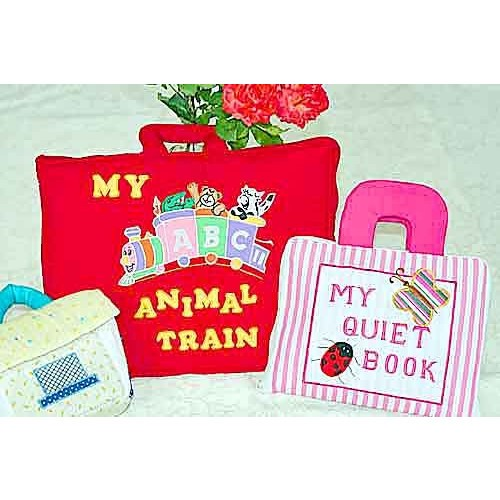 布絵本MY QUIET BOOKピンクストライプ MY ABC ANIMAL TRAIN おまけ付き ファンタイムプレイ ラーンギフトセット 幼児教育