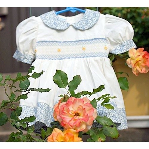 c738620b983a0 衣類 ベビードレス スモッキングドレス カントリージーア (ブルマ付き)80 おまけつきカントリードール