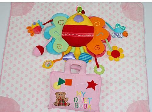 布絵本 布おもちゃ ブランケット MY QUIET BOOKベア ピンクとピヨピヨバードとハート柄ブランケット ピンク ハートフル おめでとうギフ