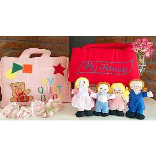 布絵本MY QUIET BOOK ベア ピンク 布のプレイハウス MY HOUSE プレイ ラーンギフトセット 幼児教育 送料無料