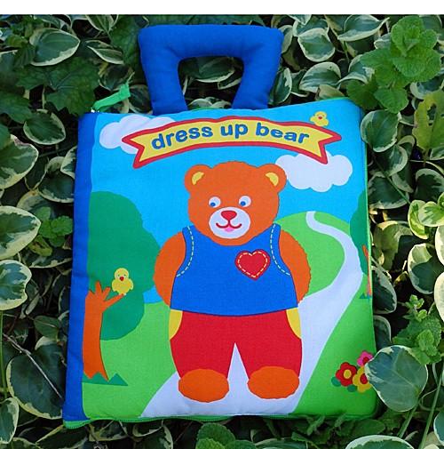 布絵本 知育絵本 知能開発レッスンブック dress up bear book 英語版 幼児教育