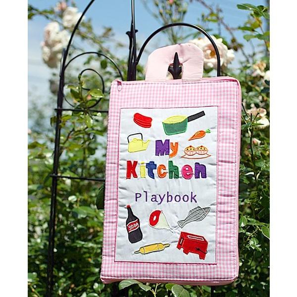 布絵本 知能開発レッスンブック My Kitchen Playbook 英語刺しゅう版 マイキッチンプレイブック 英語教育  幼児教育 送料無料