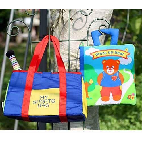 布絵本 dress up bear ドレスアップベア 布おもちゃMy Sports bagマイスポーツバッグ プレイ レッスンギフトセット 幼児教育  送料無料