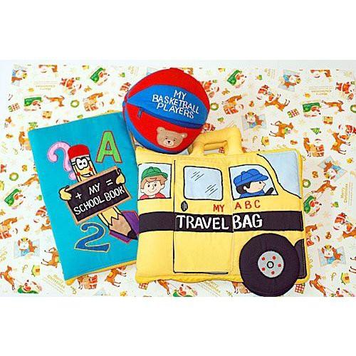 布絵本MY ABC TRAVEL BAG/SCHOOL BUS MY SCHOOL BOOK おまけ付き プレイ ラーンギフトセット