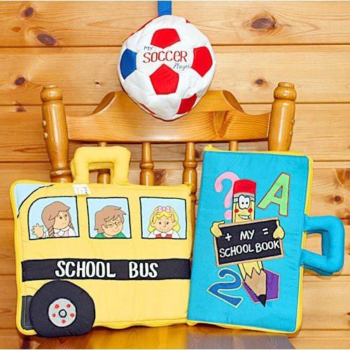 布絵本MY ABC TRAVEL BAG/SCHOOL BUS MY SCHOOL BOOK おまけ付き プレイ ラーンギフトセット 送料無料