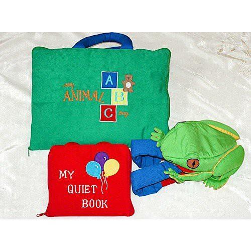 布絵本 MY QUIET BOOK バルーン My ANIMAL ABC bag おまけ付きかえるのバックパック スマートプレイ ラーンギフトセット 送料無