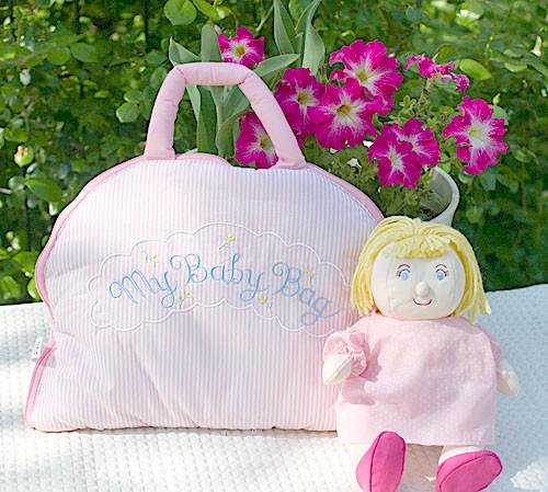 布絵本 MY QUIET BOOK ベア ピンク 英語刺しゅう版  布の着せ替えバッグ My Baby Bag おまけつき ボディ肌着3枚組 マイスィートベビーギ