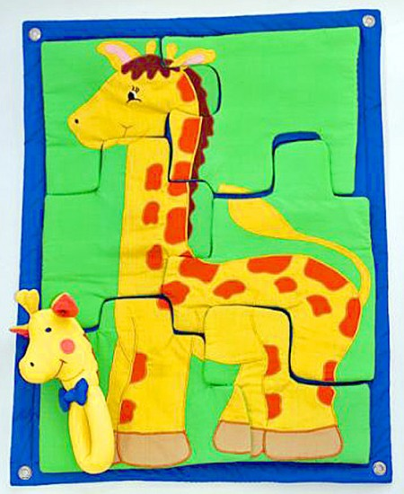 布おもちゃ 布の壁掛けキリンのパズル キリンのラトル パズルギフトセット【知能開発レッスンブック】 幼児教育