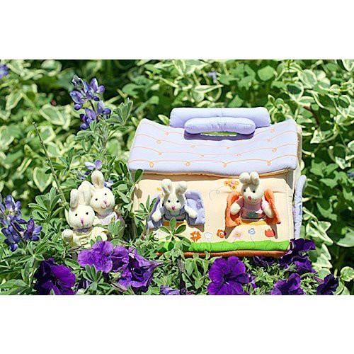 布おもちゃ 布人形 ドールハウス 布のプレイハウス バニーズファミリー 幼児教育