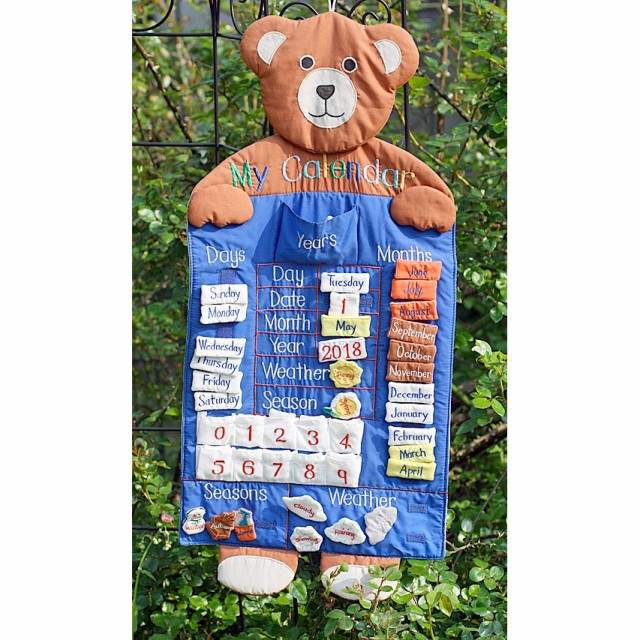 布絵本  知育絵本  布の万年カレンダー  My Calendar ベアズマイカレンダー   Enjoy Englishシリーズ英語教育