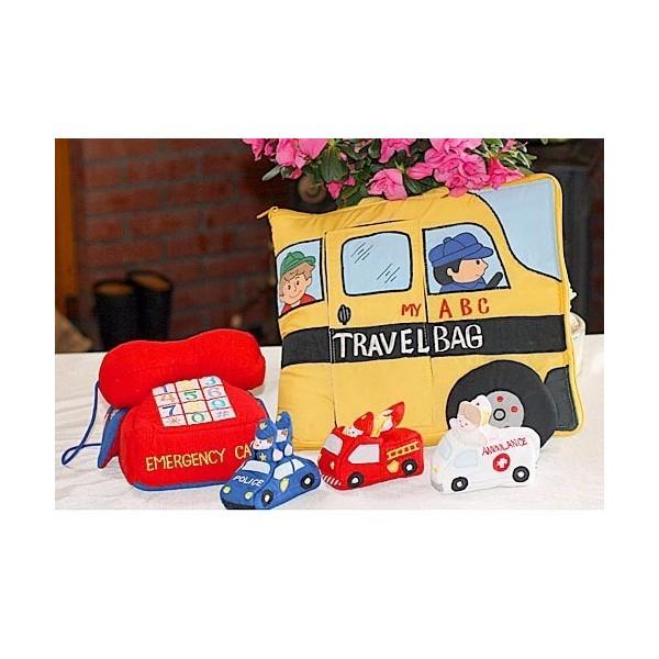 布絵本 MY ABC TRAVEL BAG/SCHOOL BUS 布おもちゃアクティビティトイ エマジェンシーテレフォン プレイ ラーンギフトセット