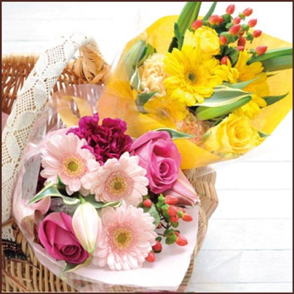 おまかせ プチ花束 生花 花束 ミニブーケ アレンジメント フラワーギフト メッセージカード