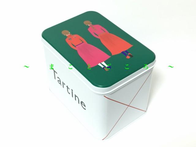 ☆ 2020 クリスマス ☆ Tartine タルティン 四角缶 (大) お菓子 東京お土産 スイーツ ギフト プレゼント お土産袋付き